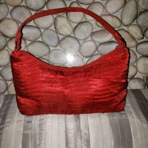 Lancome Red Dress Evening Handbag Purse